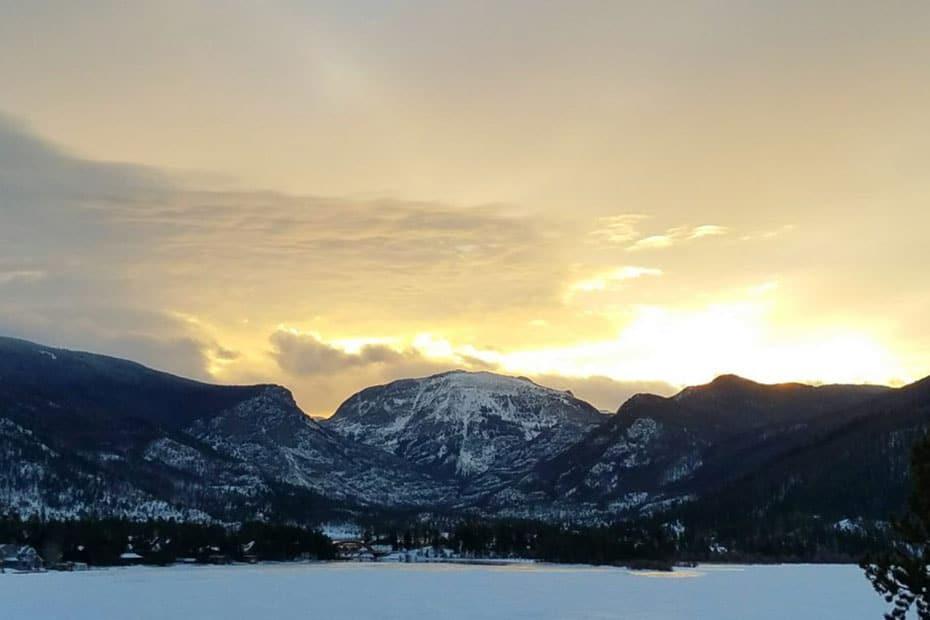 Western Riviera Winter Grand Lake Colorado