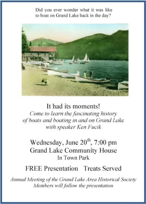 History of Grand Lake Meeting